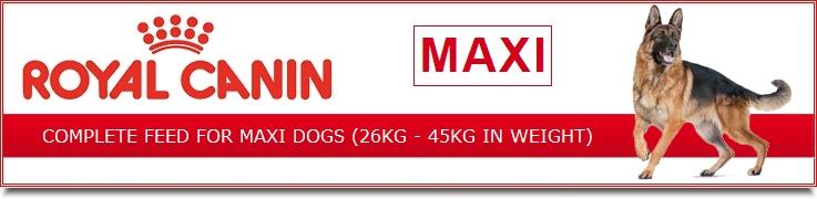 royal canin maxi dog food 26kg to 44kg buy online spr. Black Bedroom Furniture Sets. Home Design Ideas